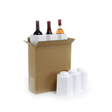 3 Bottle Foam Wine Shippers